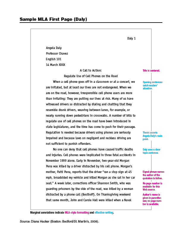 essay format citation