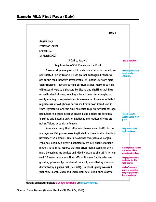 mla citation in paragraph